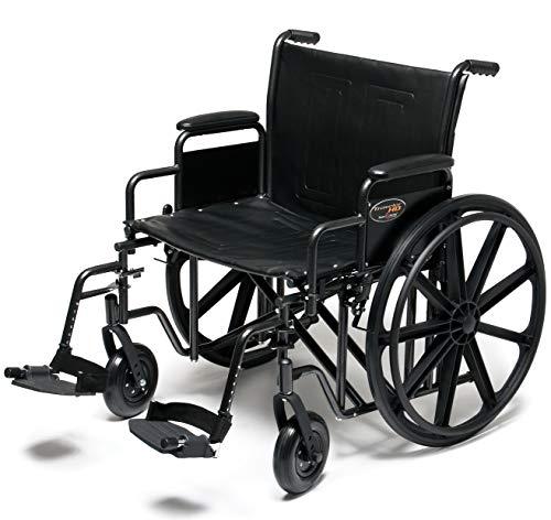 Everest & Jennings Traveler HD Wheelchair, Detachable Full Arms & Swingaway Footrests, 22