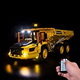 LODIY Kit de luces LED con mando a distancia para Lego 42114 Technic 6x6 Volvo Articulated Hauler RC Truck (no incluye modelo Lego)