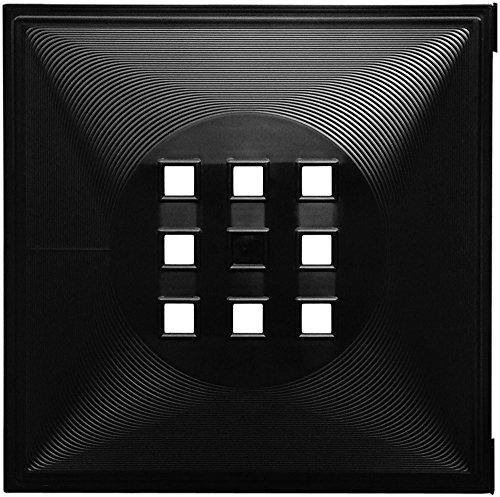 Dekaform Designer Tür für Würfelregal Flexi Einsatz Ikea Regal Expedit+Kallax mit Nörnäs * Schwarz