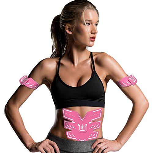 MJ-Brand Elektrostimulatoren Abs Stimulator - Ultimativer Muskelstimulator - Professioneller Absorber Toner für Haut mit 10 Stärken im 6-Modus - Leicht zu bedienender Bauchmuskelbrenngürtel
