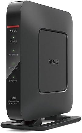 BUFFALO WiFi 無線LAN ルーター WSR-300HP/N 11n 300Mbps 1ルーム向け 【iPhone8/iPhoneX/iPhoneXS/Amazon Echo メーカー動作確認済み】
