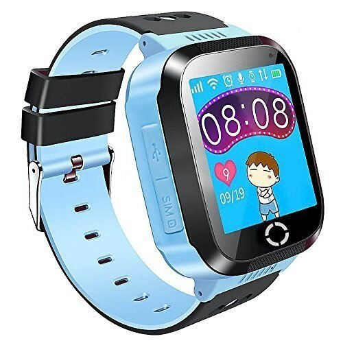 Kids SmartWatch Phone Tracker Watch 1.44'' Touch Screen Sim Card Two-Way Calling Phone Smartwatch with Camera, SOS, Light for Girls Boys Children Gift Compatible for iOS and Android (Blue)