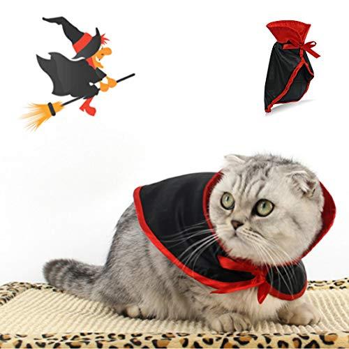 GLZKA Haustier Kostüm Halloween Vampir Mantel Cosplay Kleine Hund Welpen Katze Kleidung Festival Party Dress Up Zubehör Zwei Stücke