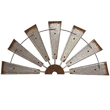Glitzhome Metal Semi-Circle Windmill Wall Decor