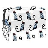Neceser portátil de viaje de maquillaje neceser impermeable bolsa de almacenamiento grande organizador bolsa para mujeres y niñas – Lindo gato francés