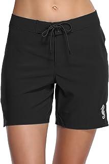 f01487f2db2 Sociala Women's Long Board Shorts Quick Dry Swim Shorts Beach Boardshorts