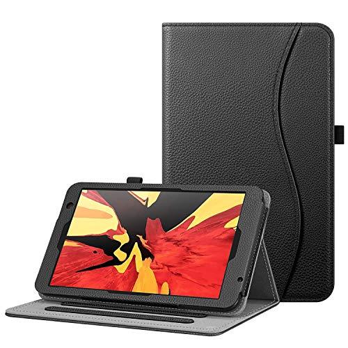 FINTIE Custodia per Vankyo MatrixPad S8 - [Multi-angli] Slim Fit Stand Cover Protettiva Case con Tasca per Vankyo MatrixPad S8 8.0 Pollici, Nero