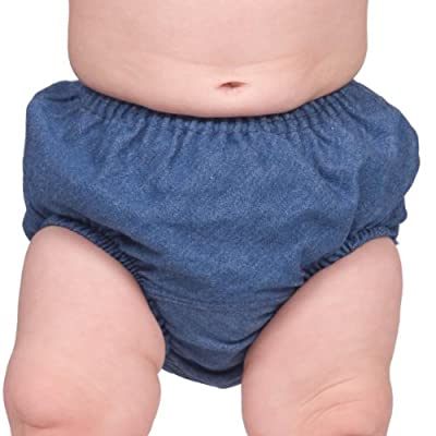 I.C. Collections Baby Toddler Denim Infant Diaper Cover Bloomers, Size XL