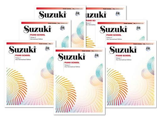 Suzuki Piano School, Book and CD Complete Set (7 Books W/CD) - Volume 1, Volume 2, Volume 3, Volume 4, Volume 5, Volume 6, Volume 7