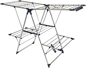 Clothes Rack Wing-shaped Clothes Hangers, Versatile Balcony Towel Sheets Drying Rack Home Dorm Room Folding Drying Rack Cl...