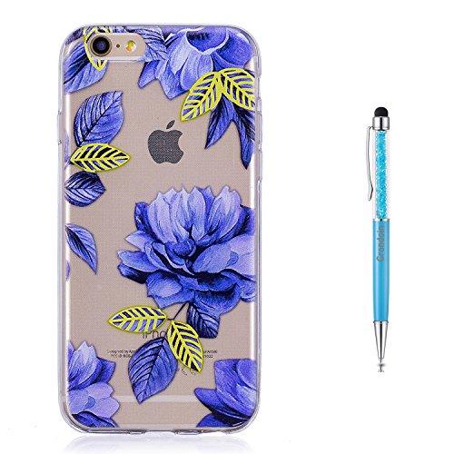 Grandoin iPhone 8 Hülle,iPhone 7 HandyHülle, Süßes Muster Transparent Ultra Dünn Weiche TPU Silikon Schutz Handy Hülle Schutzhülle Case Cover für Apple iPhone 7/iPhone 8 4.7 Zoll - Orchidee
