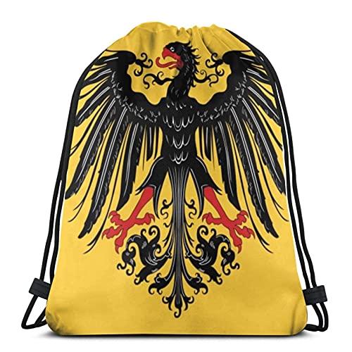 Borse con coulisse germanica, bandiera dell'Impero Romano Sacro Romano Impero Unisex con coulisse borsa sportiva borsa grande coulisse Tote bag palestra zaino in massa