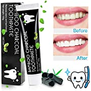 Aktivkohle Zahnpasta MayBeau Zahnaufhellung Zahnreinigung Bleaching Zähne Teeth Whitening Aufhellung Toothpaste Bamboo Charcoal Zahnpasta Zahnbleaching Mint Flavour 105g