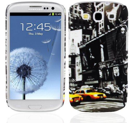 Cadorabo – TPU Hard Cover per > Samsung Galaxy S3 / S3 Neo < - Case Cover Involucro Bumper Accessorio in Design: New York Cab