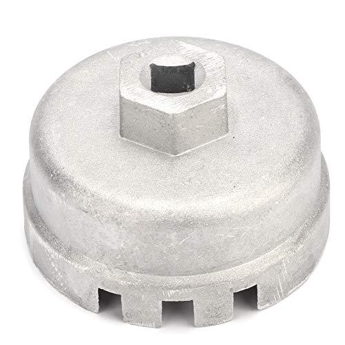 Schraubenschlüssel Ölfilter - Ölfilterschlüssel aus Aluminiumlegierung 14 Nuten Fahrzeugmodifizierungswerkzeug 64,5 mm