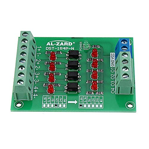 ZANYUYU 5pcs 12V to 24V 4 Channel Isolation Optocoupler Board Isolated Module PNP Output PLC Signal Level Voltage Converter Connector