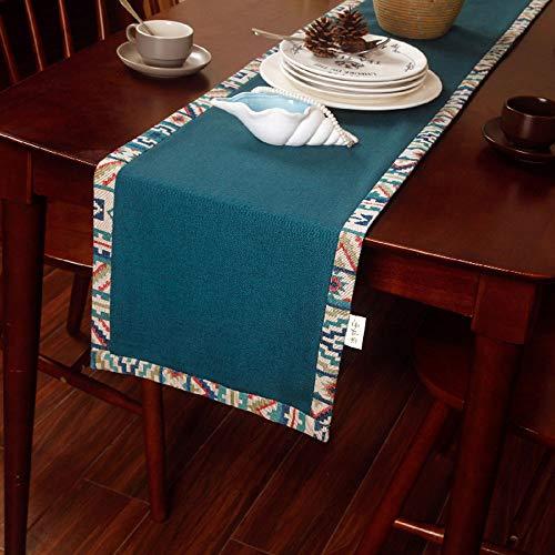 Xiao Jian tafelloper - American Country tuin tafelkleed tafelvlag salontafel tv-kast lang tafelkleed modern minimalistische meubels decoratieve doek bed vlag bedsjaal (3 maten) tafelkleed