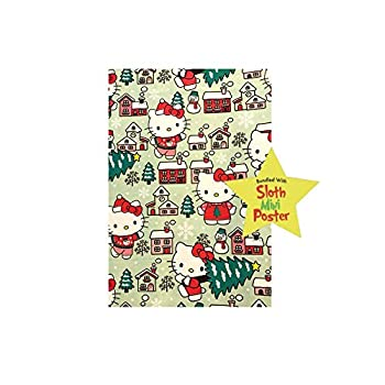 Hello Kitty Christmas Gift Wrapping Paper -40 Square Feet 1 Roll