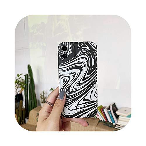 Carcasa para iPhone 12, carcasa de pintura de tinta artística para iPhone SE 2020 X XR XS Max 7 8 Plus silicona flexible -Ry271-For-Iphone8Plus
