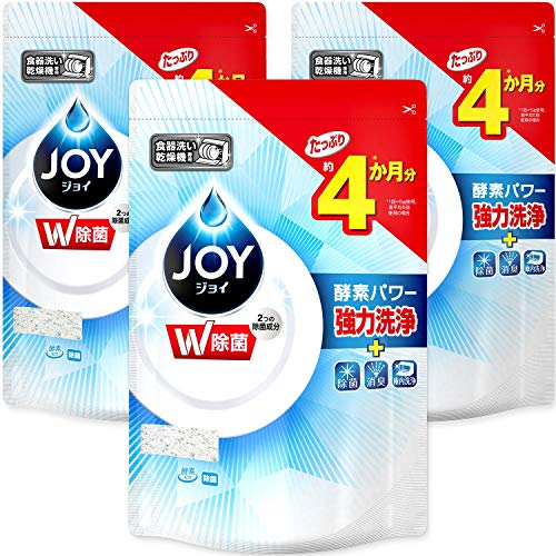 【まとめ買い】 ジョイ 食洗機用洗剤 除菌 詰め替え 490g×3個