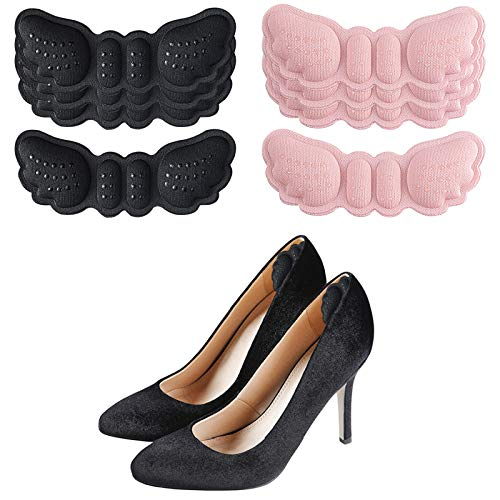 Heel Pads for Shoes Thickened High Heel Inserts Cushion Pads Slip-Resistant Padded Heel 4 Pair