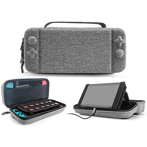 IFORU Funda para Nintendo Switch, Estuche de Transporte para Consola Nintendo Switch Espacio para Joy-con, Bolsa Transporte Portátil 18 Cartuchos de Juegos...