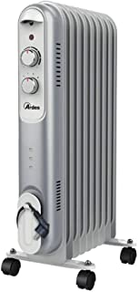 Ardes AR4R09S - Calefactor (Calentador de aceite, Aceite, CE, Interior, Piso, Negro, Gris, Blanco)