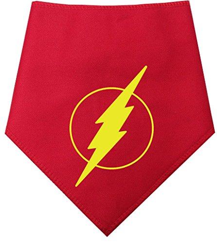 """Spoilt Rotten Pets (S3 The Flash, Flash Gordon Bandana para Perros medianos se Adapta al tamaño del Cuello 17"""" – 22"""" Marvel Comic Style Lindo Super Hero Capa para su Pooch"""