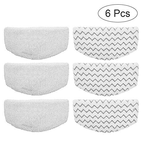 6 Pack Bissell Washable Microfiber Steam Mop Pads Replacement for Bissell Powerfresh Steam Mop 1940 1440 1544 1806 2075 Series, Models 19402 19404 19408 1940A 1940Q 1940T 1940W (6 Pack)