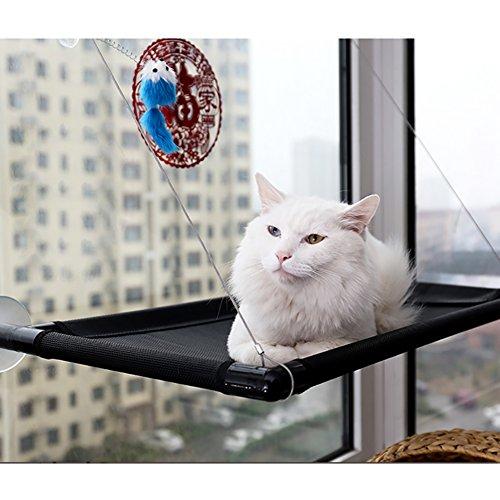 CONMING Perchoirs de fenêtre pour Chats, Hamac de Repos pour fenêtre avec Couverture Kitty Matelas pour Berceau de siège ensoleillé