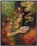BOIPEEI Kits de Pintura de Diamantes 5D, Bordado de Diamantes de imitación de Mosaico, Diosa psicodélica de mitología pagana, para Arte de decoración de Pared