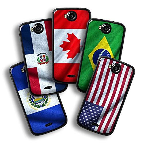 atFolix Designfolie kompatibel mit Wiko Cink Peax 2, wähle Dein Lieblings-Design aus, Skin Aufkleber (Flaggen aus Amerika)