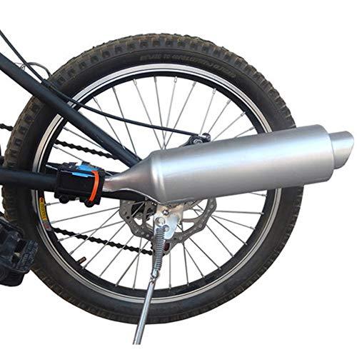 FADDR Fahrrad-Auspuff-Soundsystem, Fahrrad-Turbo-Auspuffrohr mit Geräuscheffekt Motorrad-Geräuschhersteller Fahrradzubehör 35 x 7,5 cm(wie das Bild)