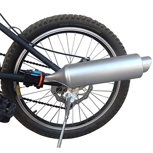 FANFA Bike Muffler Exhaust Noise Maker, Bicycle Exhaust Sound System with Sound Effect, Bicycle Modification Turbospoke Exhaust Pipe