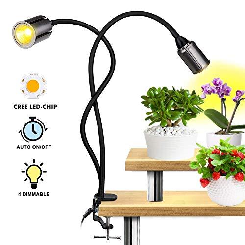 HALUM 36W Lámpara de Plantas (2 Cabezas)