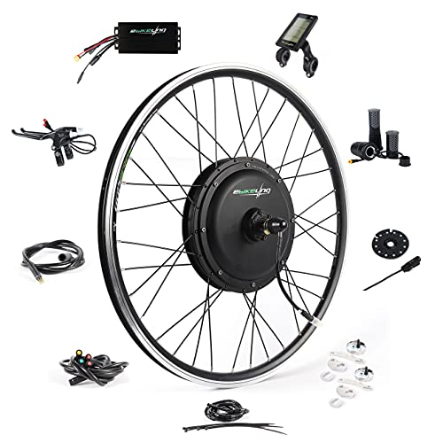 "EBIKELING 48V 1200W 26"" Direct Drive Waterproof Electric Bike Kit - Ebike Conversion Kit - Electric Bike Conversion Kit (Front/LCD/Twist)"