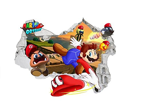 Super Mario Wandaufkleber 3D abnehmbaren PVC Home Decor Schlafzimmer Aufkleber Wall Paper Aufkleber Kunst f?r Kid 's Room 59?cm x 76?cm