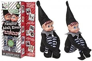 Set Of 2 Novelty Naughty Adult Mischievous Christmas Elf - Boy & Girl - Elves Behaving Badly