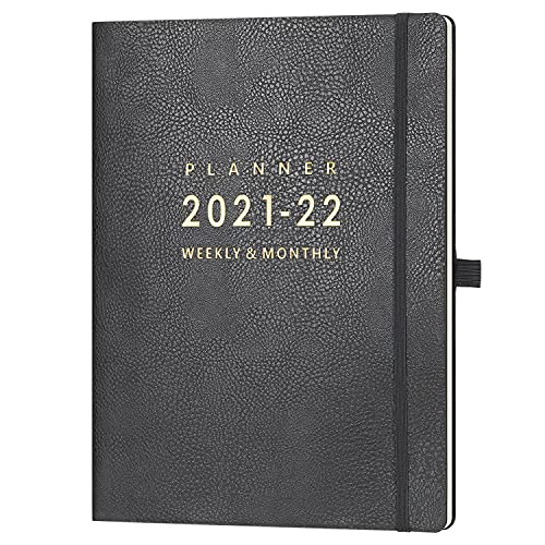 """2021-2022 Planner - Weekly & Monthly Planner 2021-2022, July 2021 - June 2022, 8.5"""" x 11"""", Calendar Stickers & Pen Holder & Inner Pocket, 24 Notes Pages, A4 Premium Thicker Paper"""