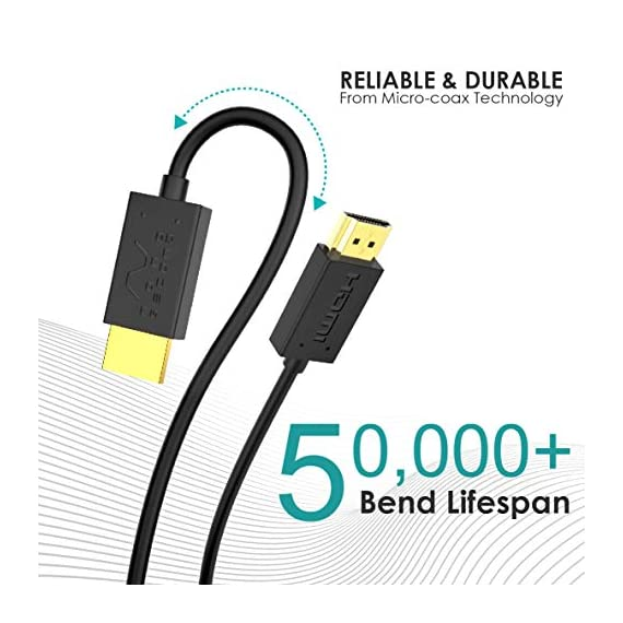 Nanosecond Extreme Slim 2.6' Micro HDMI Cable – World's Thinnest and Most Flexible HDMI Cable. (2.6 Ft / 0.8m) High… 8 Conform to the latest HDMI High Speed with Ethernet spec—Ethernet Channel, Audio Return Channel, 3D Support, 4K Resolution Capabilities, Extra Color Spaces and Dolby Surround Sound. One of the kind—world's thinnest and most flexible HDMI, measured at a whapping 2mm in diameter. That's 85% thinner and 4 times more flexible than standard HDMI. Truly portable, small enough to fit into your pocket or the front pocket of your camera/camcorder carrier. Show off your pictures or video directly from your mobile devices by connecting to a display via this HDMI cable.