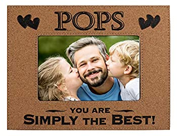 """POPS PICTURE FRAME GIFT ~ """"POPS You Are SIMPLY THE BEST"""" Custom Engraved Cork Picture Frame Father's Day Birthday Christmas Gift from Daughter Son Best Dad Ever Daddy Pops Papa Father  4x6 Cork"""