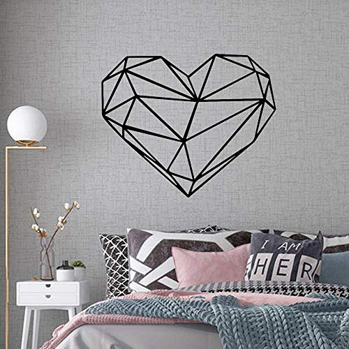 jtxqe Creative Geometric Heart Wall Art Small Wall Wall Decal Sticker Quotes Removable Wall Stickers Art Decal For Wall Decoration 43Cm X 52Cm