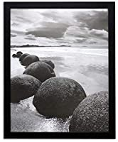 Golden State Art 16x20 Black Picture Frame, 1-1/4-Inch Wide with Real Glass [並行輸入品]