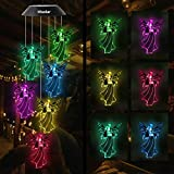 HiSolar Angel Solar Wind Chimes Light Color Changing Solar Mobile Waterproof LED Solar Powered Wind Chimes for Home Party Yard Garden Decor,Gifts for mom Birthday Gifts
