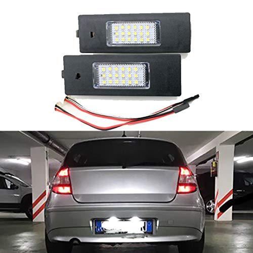 MOLEAQI 2PCS Canbus Error Free LED License Plate Light for B-MW E81 E87 E63 E64 M6 E85 E86 Z4 F12 F13 F20 K48