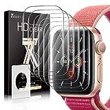 TAURI 6 Stücke Schutzfolie Kompatibel Mit Apple Watch Series 6 5 4 SE 44mm & Series 3 2 1 42mm Folie Blasenfreie Einfache Installation Kompatibel mit Hülle Klar HD TPU Bildschirmschutzfolie