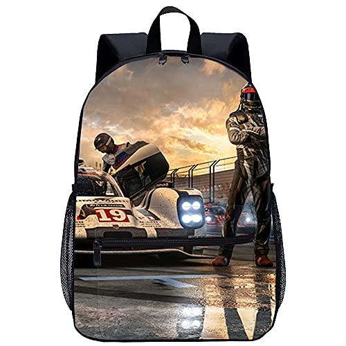 LGBCK Impression 3D de sac à dos scolaire unisexe Forza Motorsport 7 games Sac pour ordinateur portable léger, adapté aux étudiants, adolescents, garçons et filles, aux voyages et au camping