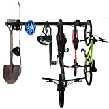 Omreid Wall Mount Bike Storage Rack Adjustable Storage System Tools and Bike Wall Hanger Mount,Home and Garage,Hold 4 Bicycles (8 hooks,46 in)