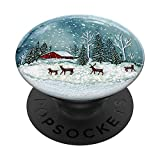 Snow Globe Funny Merry Christmas Winter Holiday Festive Gift PopSockets PopGrip: Swappable Grip for Phones & Tablets