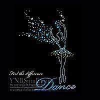 【スパングル】 スパンコールモチーフ (ダンス バレエ バレリーナ) アイロン接着 XLサイズ